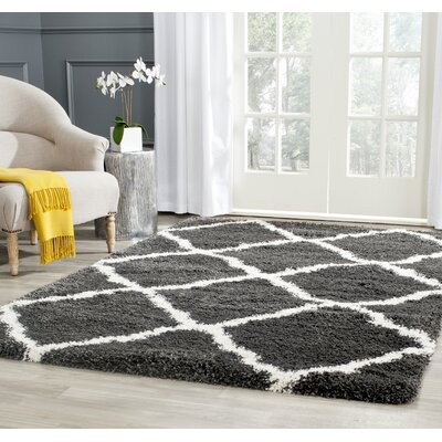 Charmain Charcoal & Ivory Area Rug Rug Size: Rectangle 51 x 76