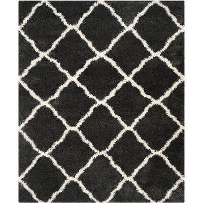 Cherry Street Charcoal / Ivory Area Rug Rug Size: Rectangle 8 x 10