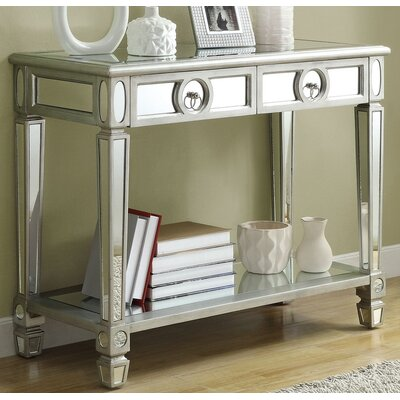 Enya 2 Drawer Mirrored Console Table