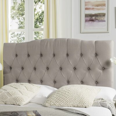 Patton Upholstered Panel Headboard Upholstery: Taupe, Size: Queen