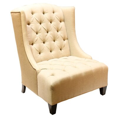 Ryegate Linen and Euro Burlap Wingback Chair
