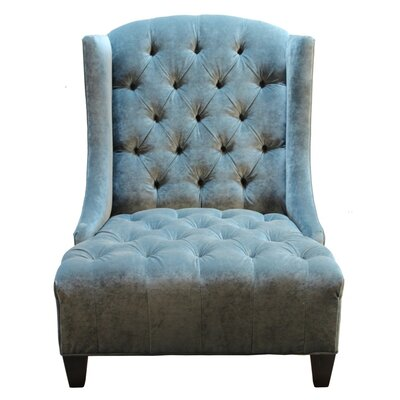 Ryegate Velvet Wing back chair Color: Banks Lagoo