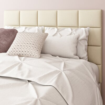 Redhill Upholstered Panel Headboard Upholstery: Beige, Size: Queen