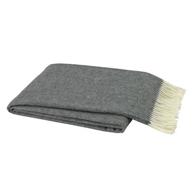 Kaya Herringbone Throw Blanket Color: Charcoal Grey