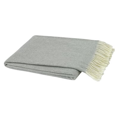 Kaya Herringbone Throw Blanket Color: Light Gray