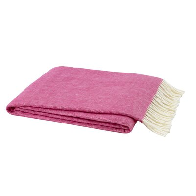 Kaya Herringbone Throw Blanket Color: Wild Orchid Pink