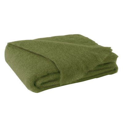 St Helens Brushed Mohair Throw Color: Fern