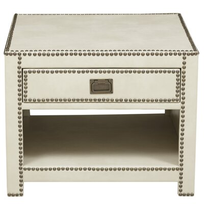 Emmanuel Faux Leather Wrapped End Table