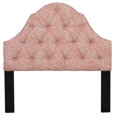 Maximilian Shaped Camel Back Button Tufted Upholstered Panel Headboard Size: King