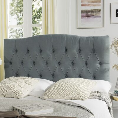 Patton Upholstered Panel Headboard Upholstery: Sky Blue, Size: Queen
