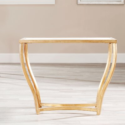 Ealing Console Table Finish: White/ Gold