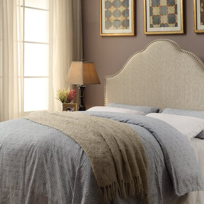 Haylee Arch Upholstered Panel Headboard Size: King