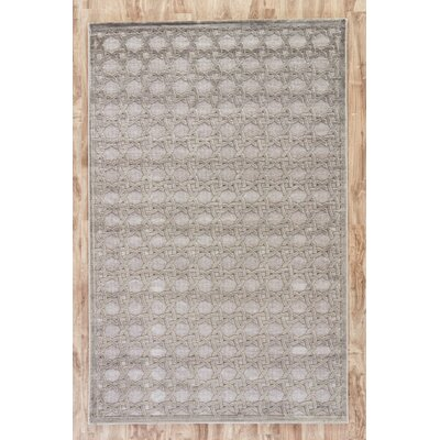 Bowles Geometric Gray Area Rug Rug Size: Rectangle 76 x 96