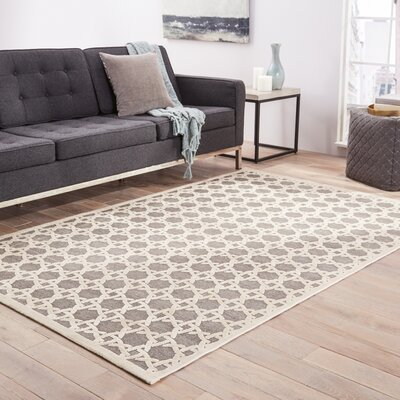Clarke Gray Area Rug Rug Size: Rectangle 76 x 96