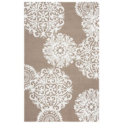 Randolph Hand-Tufted Brown Indoor/Outdoor Area Rug Size: 76 x 96