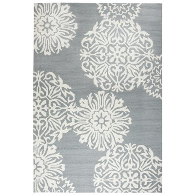 Randolph Hand-Tufted Gray/Off White Indoor/Outdoor Area Rug Size: 36 x 56