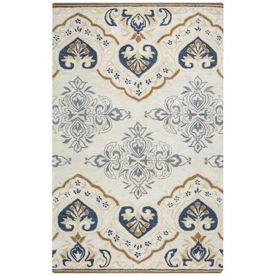 Doobay Hand-Tufted Light Gray Area Rug Rug Size: Rectangle 5 x 8