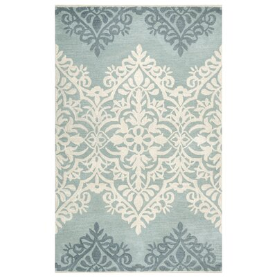 Southwell Hand-Tufted Blue/Green Area Rug Rug Size: 5 x 8