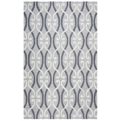 Newport Hand-Tufted Gray Area Rug Rug Size: 5 x 8