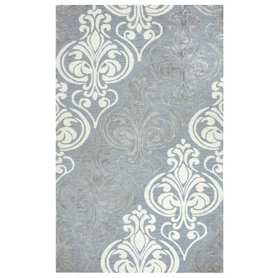 Jasper Hand-Tufted Blue/Gray Area Rug Rug Size: Rectangle 5 x 8
