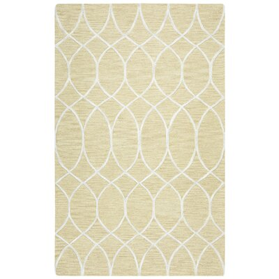 Jacobson Hand-Tufted Beige Area Rug Rug Size: Rectangle 5 x 8