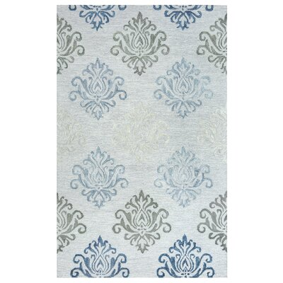 Ilfracombe Hand-Tufted Gray Area Rug Rug Size: Rectangle 9 x 12