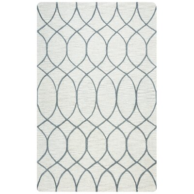 Jacobson Hand-Tufted Khaki Area Rug Rug Size: Rectangle 8 x 10