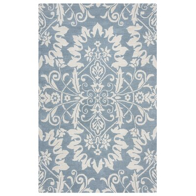 Doss Hand-Tufted Light Blue Area Rug Rug Size: 5 x 8