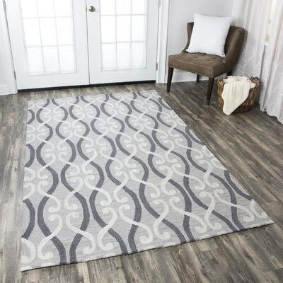 Newport Hand-Tufted Gray Area Rug Rug Size: Rectangle 5 x 8