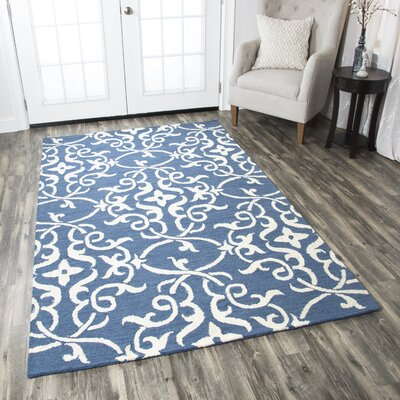 Hexham Hand-Tufted Blue Area Rug Rug Size: Runner 26 x 8