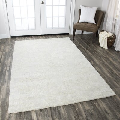 Doss Hand-Tufted Beige Area Rug Rug Size: Rectangle 6'6