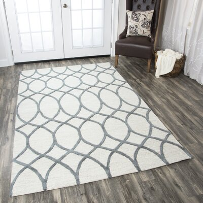 Jacobson Hand-Tufted Khaki Area Rug Rug Size: Runner 26 x 8