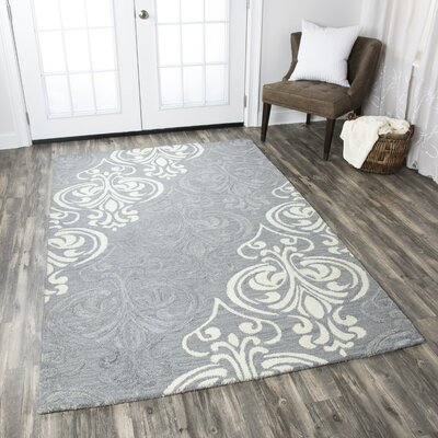 Jasper Hand-Tufted Blue/Gray Area Rug Rug Size: Runner 26 x 8