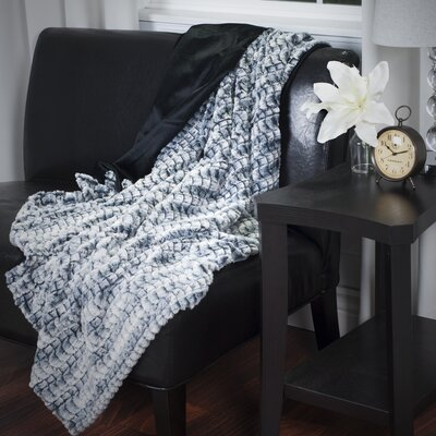 Penn Striped Throw Blanket Color: Black