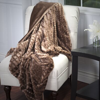 Penn Striped Throw Blanket Color: Brown