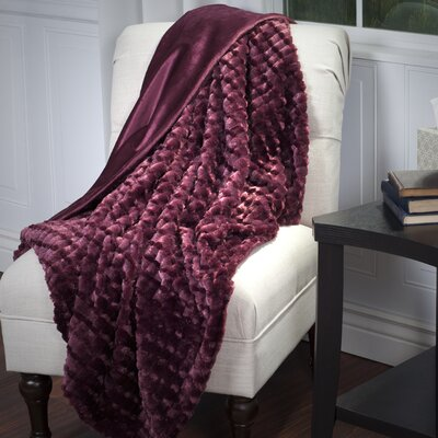 Penn Striped Throw Blanket Color: Burgundy