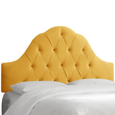 Davina Arched Upholstered Panel Headboard Upholstery: Canary, Size: Queen