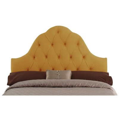 Davina Arched Upholstered Panel Headboard Size: Queen, Upholstery: Canary