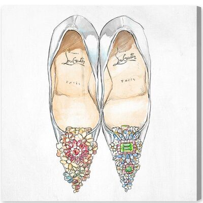 'Gem Shoes Square' Painting Print on Canvas Size: 12