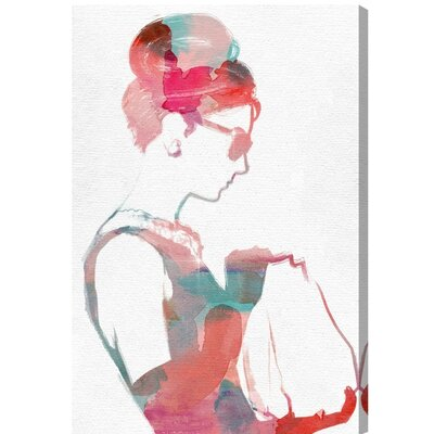 'Watercolor it Girl' Graphic Art Print on Canvas Size: 15