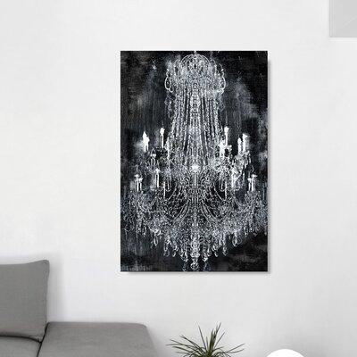 'Crushed Velvet Chandelier' Graphic Art Print on Canvas