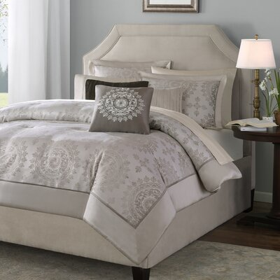 St John 6 Piece Reversible Duvet Cover Set Size: King