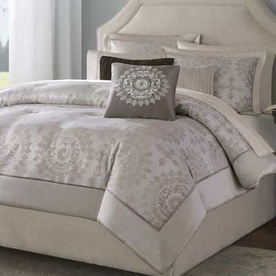 Botsford 12 Piece Reversible Comforter Set Size: Queen