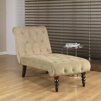 Rosemead Velvet Chaise Lounge Upholstery: Coffee