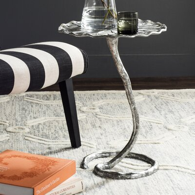 Blessen End Table Color: Silver