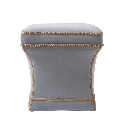 Jones Pedestal Ottoman Upholstery: Opal Gray
