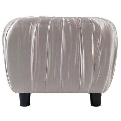 Eglantine Beaded Decorative Ottoman Upholstery: Off White