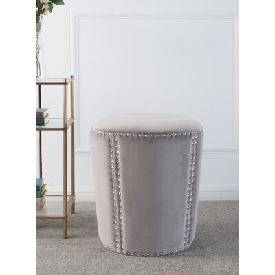 Ofelia Accent Ottoman Upholstery: Opal Gray