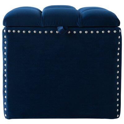 Eloisa Storage Ottoman Upholstery: Navy Blue