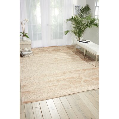 Hartz Ivory/Sand Area Rug Rug Size: Rectangle 26 x 4